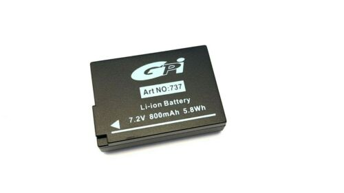 2 x Bilora GPI batería Li-ion 737 para Panasonic dmw-bld10 nuevo
