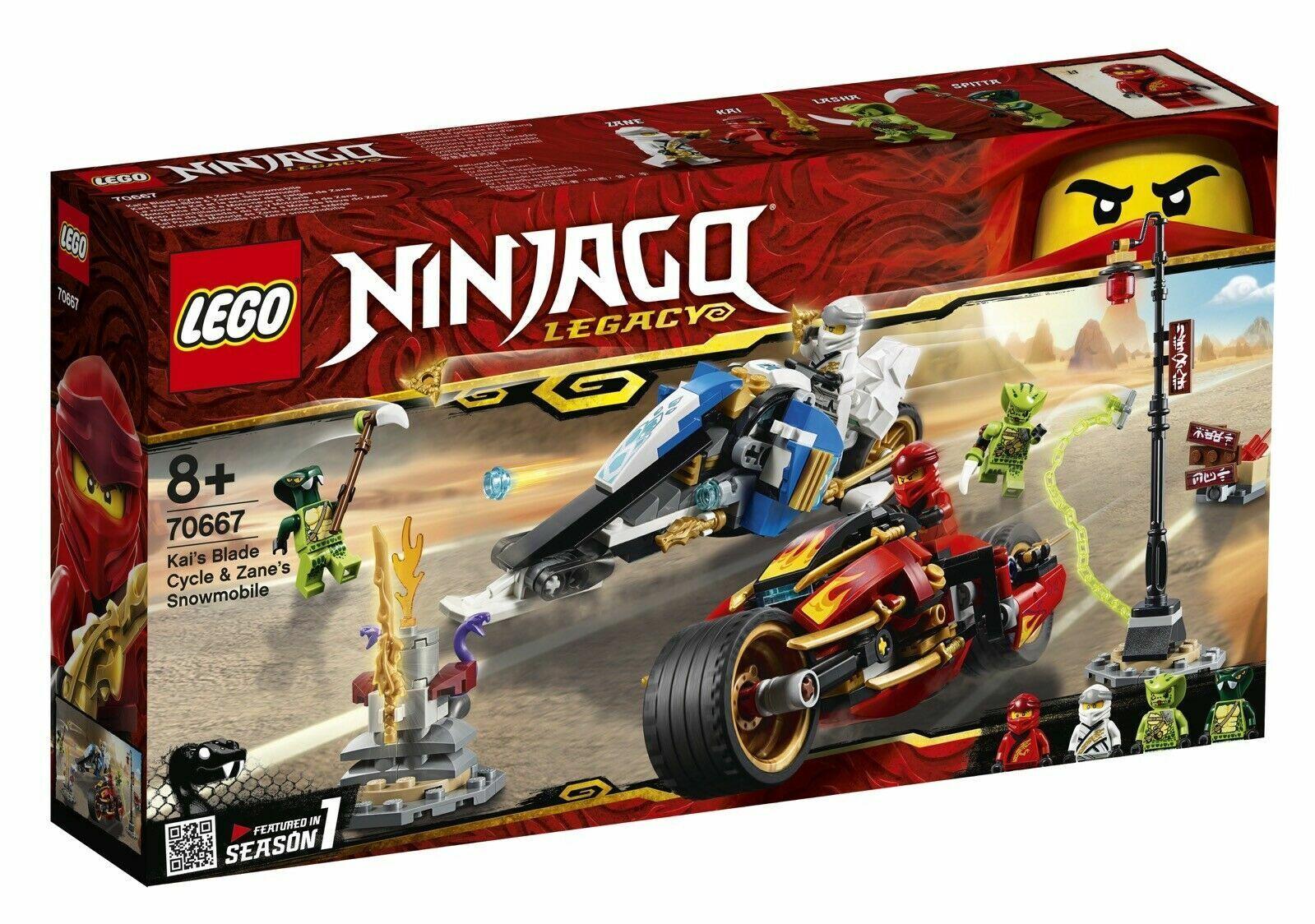 LEGO NINJAGO 70667 MOTO-LAMA DI KAI E MOTO-NEVE DI ZANE NUOVO