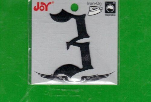 "Joy Iron-On Black Numbers Cursive Font 2/"" High *New"