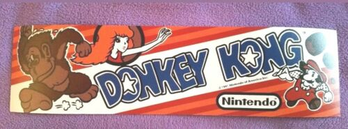 Buy any 3 stickers, GET ONE FREE! 2.5 x 9.5. Donkey Kong marquee sticker