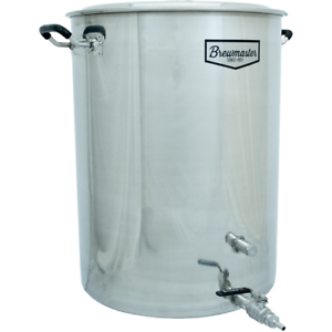 25-Gallon-Brewmaster-Stainless-Steel-Brew-Kettle-2-Ports-Beer-Moonshine-w-Valve