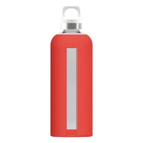 Sigg Star Scarlet Bevande Bottiglia Borraccia Outdoorflasche ROSSO VETRO 850 ML