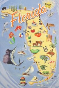 Limited-Edition-034-Fabulous-034-Authentic-Florida-Poster-Signed-Numbered-by-Artist