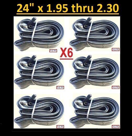 24  Bicycle Bike Cycle Inner Tube 24 x 1.95 thru 2.30 x6