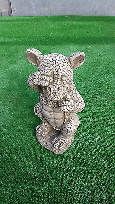 Reconstituted stone comical dragon #2,garden ornament,price includes delivery