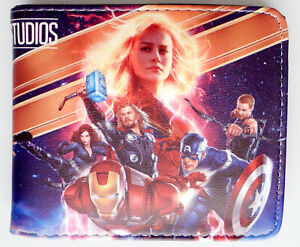 Avengers-Captain-Marvel-Gamora-Iron-Man-Thor-Thanos-Doctor-STRANGE-Wallet-GELDBORSE