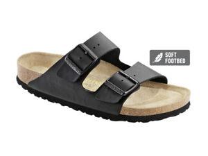e56187bfe16 Image is loading BIRKENSTOCK-ARIZONA-Sandals-Birko-Flor-Black-Soft-Footbed-