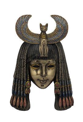 Bastet Headdress Mask Egyptian Wall Plaque Sculpture - WE SHIP WORLDWIDE