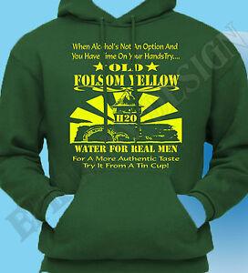 Johnny Cash Inspired Hoody Folsom Prison Hoodie Old Yellow Water Original Design Ebay