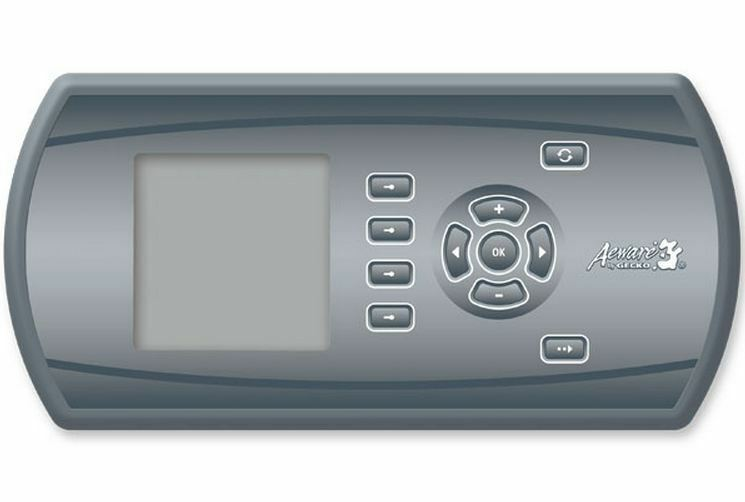 Spa Gecko Aeware Topside control keypad IN.K600 with menu driven interface  CAD