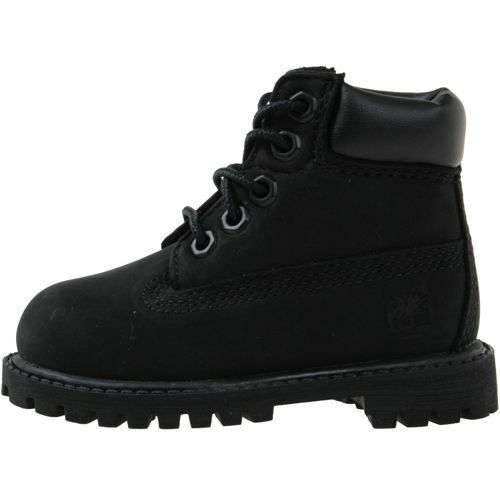 """Timberland 6/"""" Premium Toddler 12807 Black Nubuck Infant Boots Shoes Baby Size 4"""