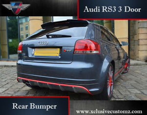 Audi A3 to Audi RS3 3 Door for Audi A3 8P 2010 onwards Rear Bumper