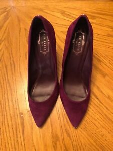 Ted-Baker-London-Purple-Suede-Heels-Made-Vietnam-Size-9-5