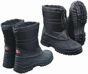 7e2e508a93ac79 Das Bild wird geladen Canadian-Snow-Boots-II-Winterstiefel-Schneestiefel -Schwarz-Thermo-