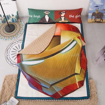 3D Iron Man Kids Baby Summer Comforter Air Conditioner Quilt Sofa Blanket 1PCS