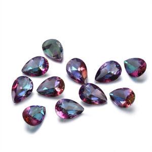 1 - 3 CT Natural Mystic Rainbow Topaz Pear Cut Loose Gemstones Gem Wholesale