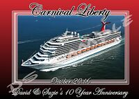 8x10 Carnival Cruise Line (any Ship) - Travel Souvenir Custom Fridge Magnet