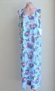 NEW-100-Cotton-Sleeveless-Long-Sun-Dress-Beach-Cover-Up-w-2-Pockets-Size-L