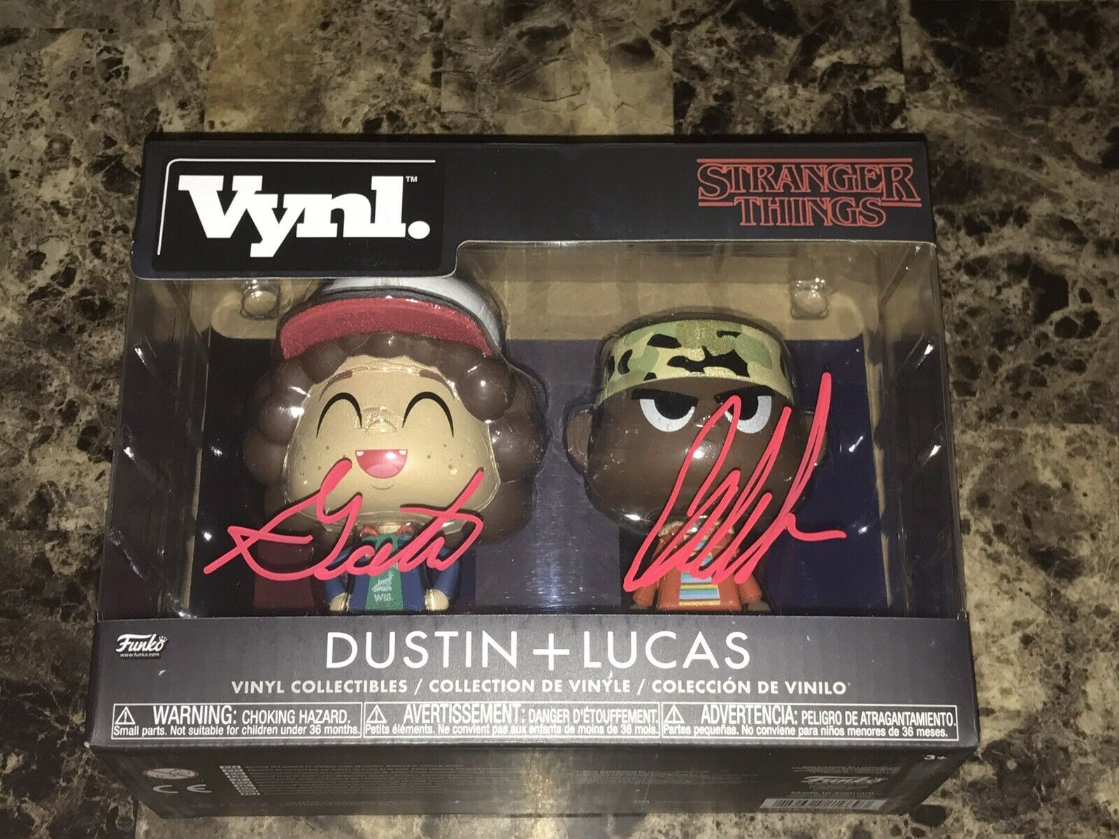 Stranger Things Signed Funko Action Figure Set Gaten Matarazzo Caleb McLaughlin