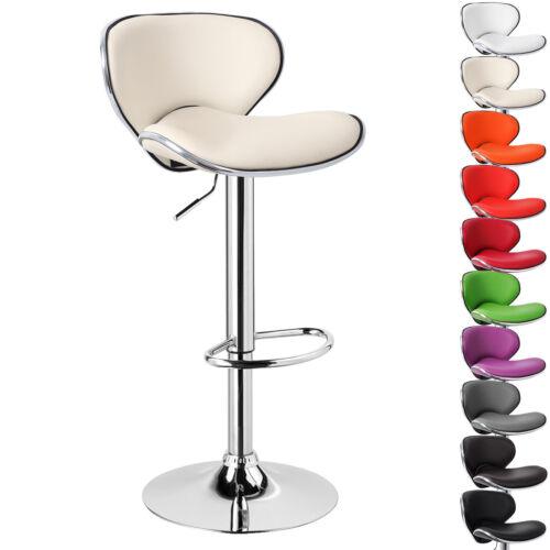 Tabouret de bar 1pcs chaises en plastique chrome de bar tabourets pivotante crème bh19cm-1