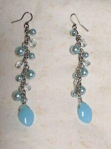 Vintage-Dangle-Earrings-Fashion-Jewelry-Swarovski-Pearl-Crystal-Earrings
