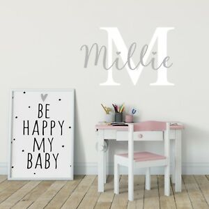 Details about Custom Name Personalised Nursery Art Wall Decal Kids Baby  Bedroom Wall Sticker