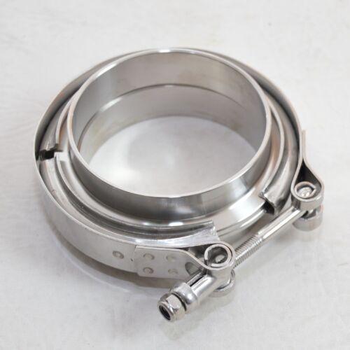 "V Band Schelle Turbo 63,5mm Vr6 16V S2 1,8T Turbo 63 + Anschweißringe 2,5/"" f"