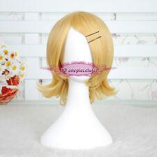 Vocaloid Kagamine Rin Short Blonde Cosplay Hair Full Wig CC160+a wig cap