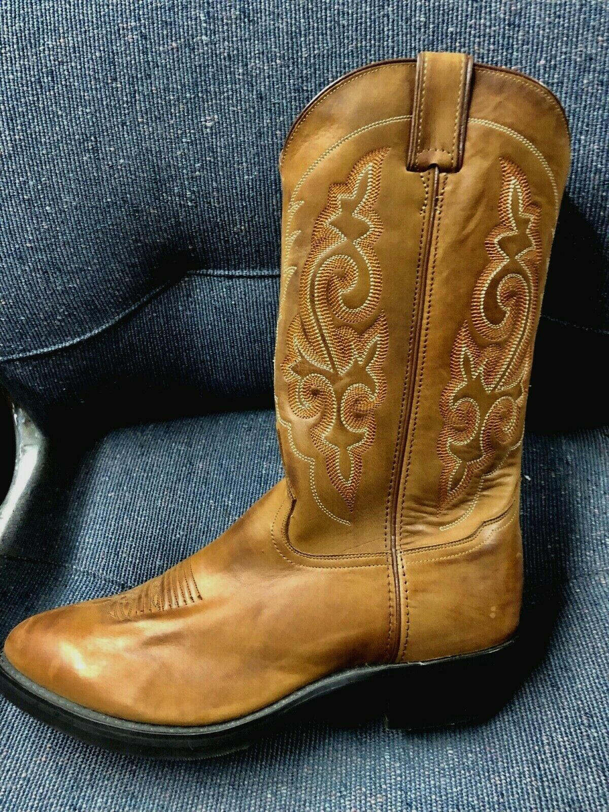 Double H Men's Cowboy Riding Equestrian Western Work Brown  Boots 12 EE New