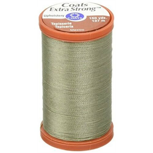 Coats Thread & Zippers Extra Strong Upholstery Thread, 150yard, Green Linen