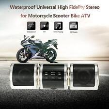 MOTORCYCLE AUDIO BT CONNECTION MP3 PLAYER FM RADIO SPEAKER USB/AUX WATERPROOF