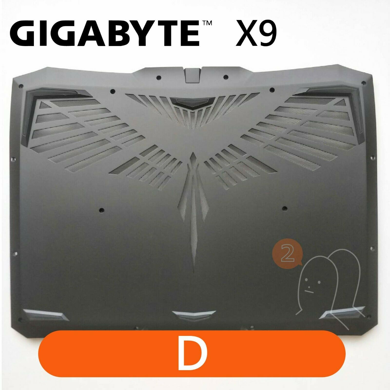 【2p3c】Replacement for GIGABYTE X9 Laptop LCD Cover : D(Bottom Base)