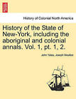 History of the State of New-York, Including the Aboriginal and Colonial Annals. Vol. 1, PT. 1, 2. by John Yates, Joseph Moulton (Paperback / softback, 2011)