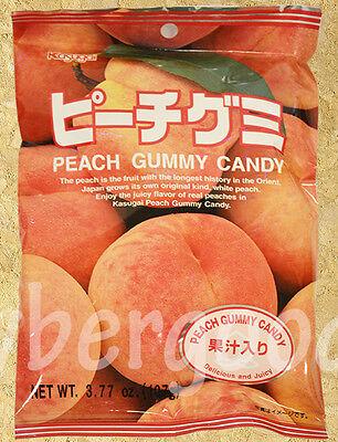 KASUGAI JUICY PEACH GUMMY CANDY JAPAN- USA SELLER