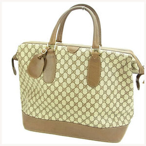 788e996cd355 Image is loading Gucci-Boston-bag-G-logos-Woman-Authentic-Used-
