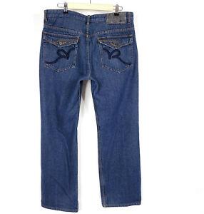 Rocawear Jeans Denim Pants Mens Size 36 X 34 Straight Leg Classic Fit Dark Wash