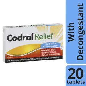 Codral Relief Cold & Flu Decongestant Tablets 20pk