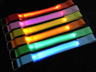 Jogging, Cycling, Walking - Flashing/static Illuminated Led Safety Armband