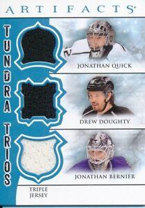 2012-13-Upper-Deck-Artifacts-Jonathan-Quick-Drew-Doughty-Jonathan-Bernier-Jersey