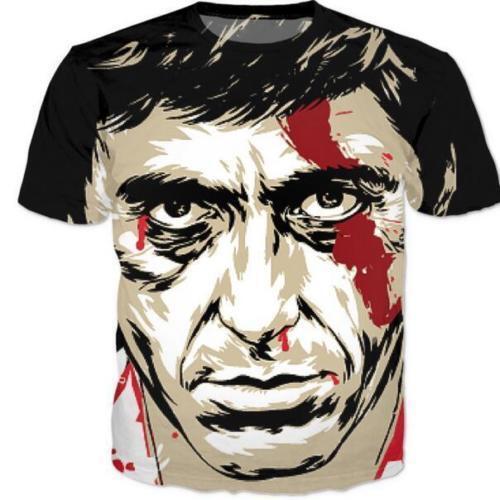 New Fashion Womens//Mens Scarface Al Pacino Funny 3D Print Casual T-Shirt JH1
