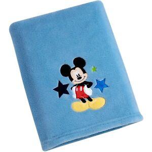 2914beead5 Image is loading Disney-Mickey-Mouse-Applique-Fleece-Baby-Blanket