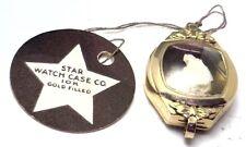 NOS Antique Star Mfg 10k Yellow Gold GF Women's Wrist Watch Case Deco & Crown 1B