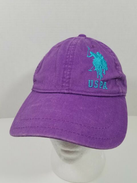 US Polo Assn Baseball Cap Purple   Teal Side Number 3 USPA Unisex One Size  Hat 0de0391a78b2