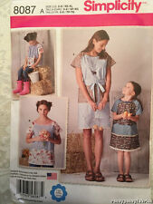 Simplicity 8087 Child & Misses Pullover Dress and Top by Lazy Daisy Jones
