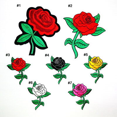 Rose Flower Lady rider Biker Rockabilly Tattoo DIY Clothes Jacket Iron on Patch