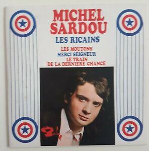 MICHEL-SARDOU-LES-RICAINS-RARE-CD-REEDITION-DU-7-034-EP-BARCLAY-1967