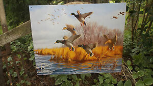 Http Www Ebay Com Itm Ducks Unlimited With Grass Lake Tin Wall Decor Hunting Sign Du 251942609009