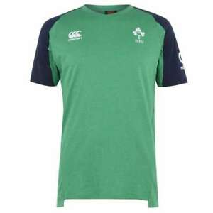 New Ireland Rugby Canterbury Men/'s Drill Training T-Shirt Green
