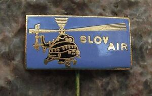 Vintage Slov Air Czechoslovakian Airline Mil Mi-8 Soviet Helicopter Pin Badge