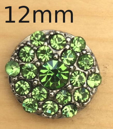 /<=Mini Snap Chunk Button With Green Sets Charm For Ginger Snap Style Jewelry